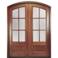 MAI Doors MARFL6-2   Pre-hung 6-Lite TDL Arch Top Mahogany ...