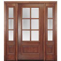 MAI Doors DD6L-1-2 | 6-Lite TDL Mahogany Entry Door Two ...