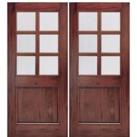 "MAI Doors A76G-2 | 72""x80"" 6-Lite Double Entry Doors in ..."