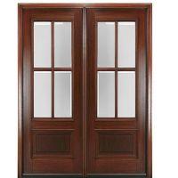 """MAI Doors DD4L-2 True Divided Lite, 6'-8"""" Tall 4-Lite ..."""