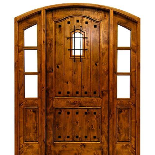 DSA Doors Kenmure E 18 Pre Hung 42x96x2 14 Knotty
