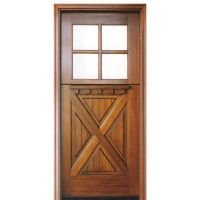 Crossbuck Entry Door & Exterior 9 Lite 2 Panel