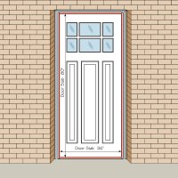 How To Measure Your Front Entry Door, Replacement Exterior