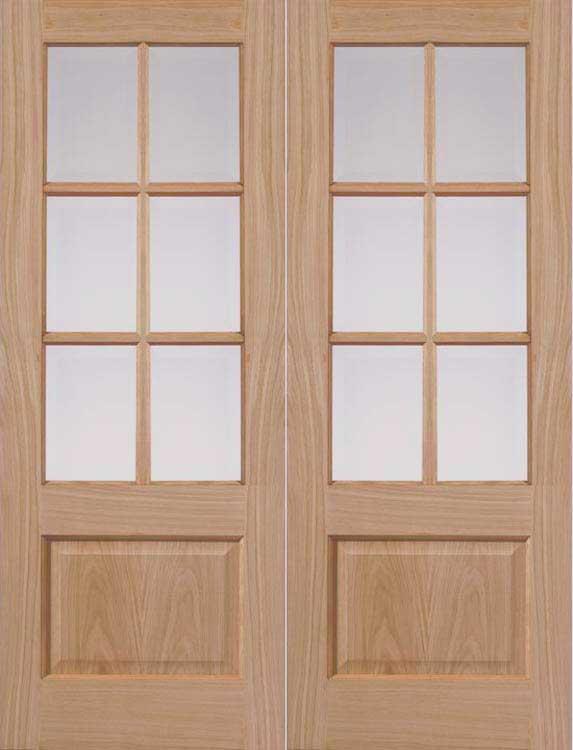 Dove Oak Interior Door Pair