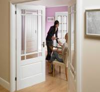 Downham Glazed Internal White Doors