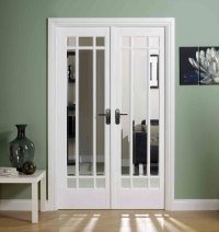 'Manatten' White Interior Door pair