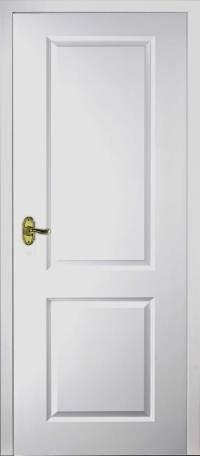 Half Light Manhattan Smooth Moulded White Door