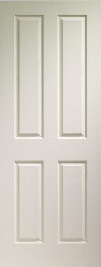 4 Panel Textured White Primed Door