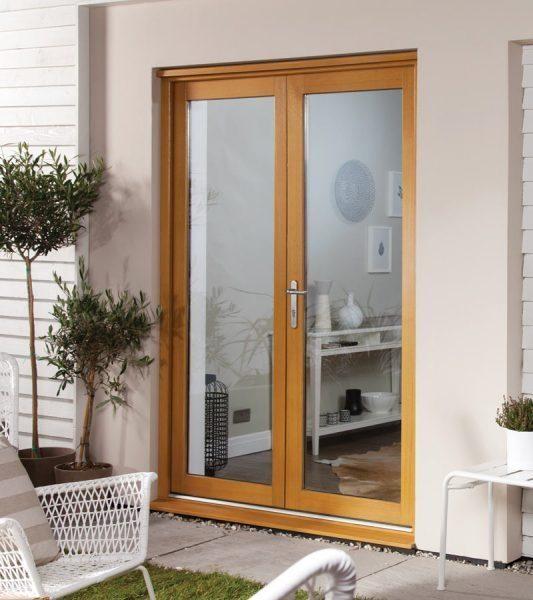 Oakfold French UnFinished, Oak Patio Doors