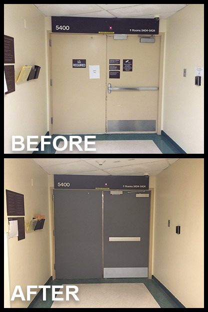 Hospital Doors Medical Applications Double Egress Doors  Door Systems