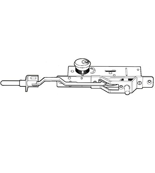 Dual Locking Bottom Rail Deadbolt, Adams Rite MS1861-02