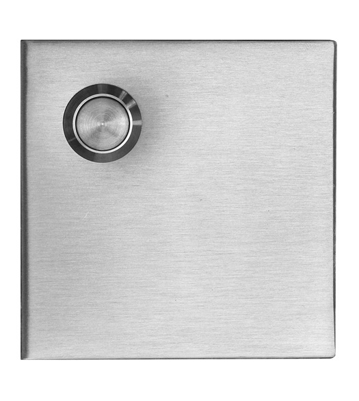 Satin Stainless Steel Square Doorbell Button AHI SIG763