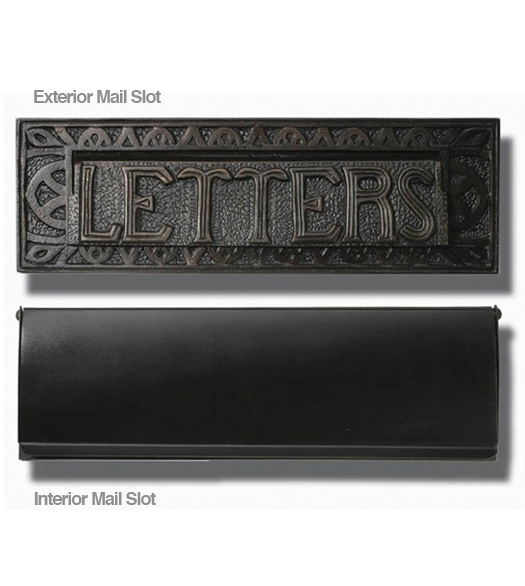 Decorative Bronze Patina Mail Slot Hamilton MS301BP