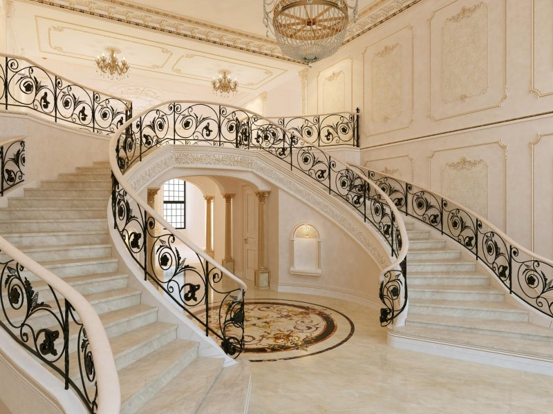 17 Decorative Wrought Iron Railings For Any Style Home Doorways | Wrought Iron Stair Railing Cost | Banister | Traditional | Home | Commercial Rod Iron | Stair Heavy