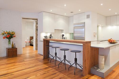 kitchen island with bar runner washable 5 inspiring design ideas for islands seating doorways modern breakfast