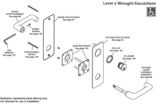 yale 8000 mortise lock parts diagram
