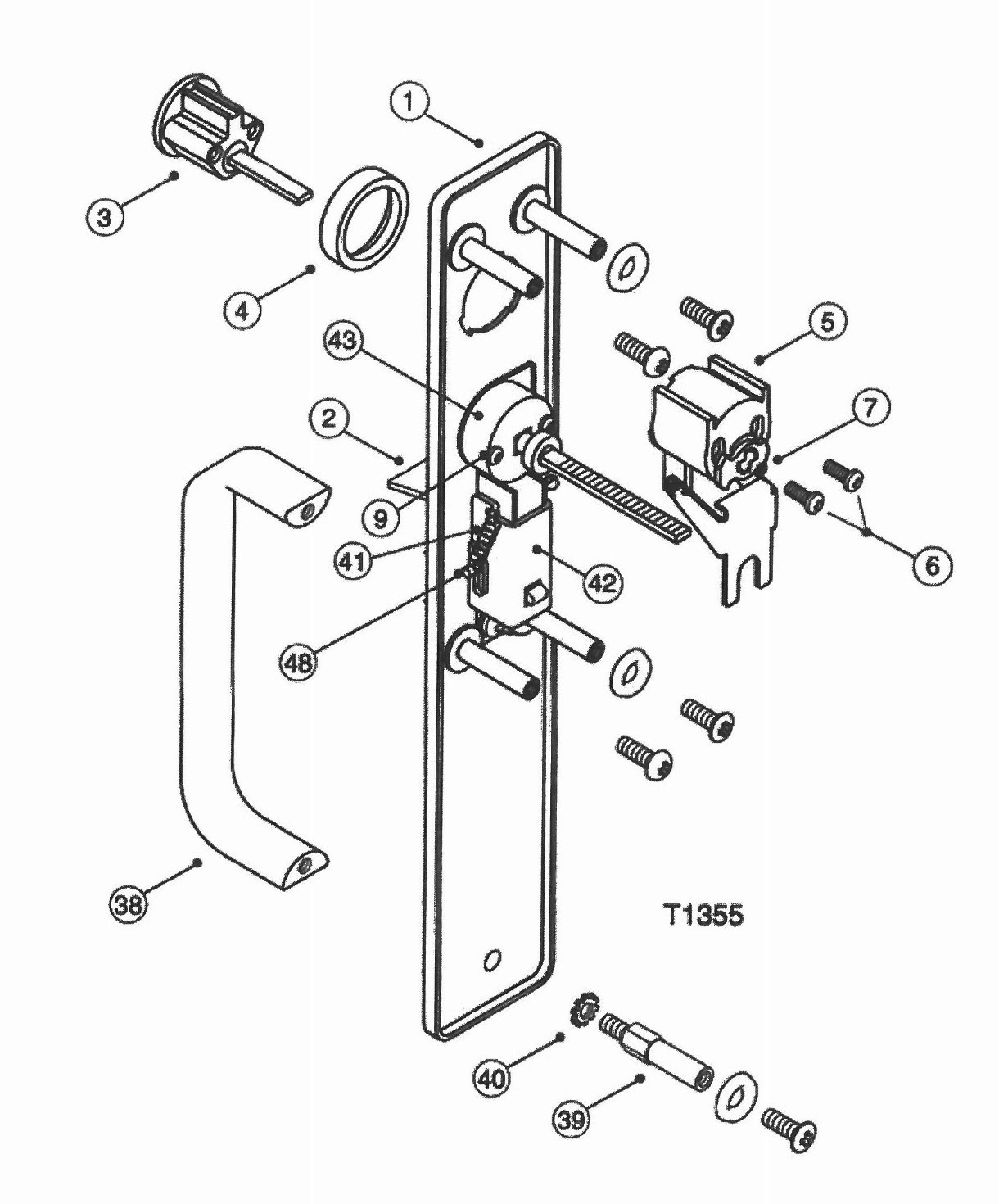 hight resolution of corbin mortise lock wire diagram