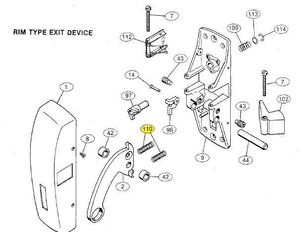 Von Duprin Parts Diagram Latch Parts ~ Elsavadorla