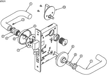 Replacement Spindle for Yale 8000 Series Mortise Lock 50