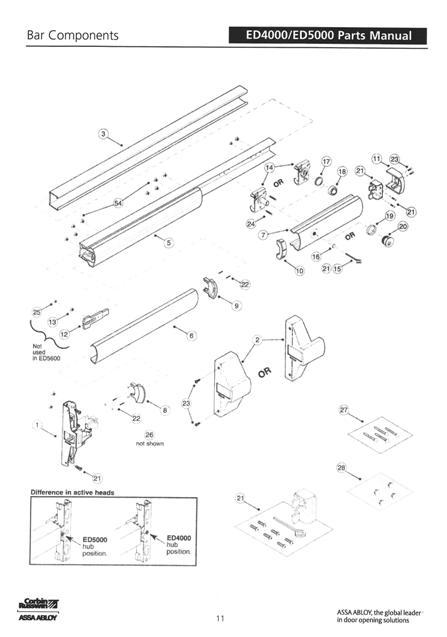 Corbin Russwin 650F27-9 Dogging Hole Plug ED4000 ED5000