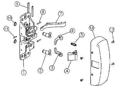 Sargent 68-4413 Latch Bolt, Sargent Exit Device Parts