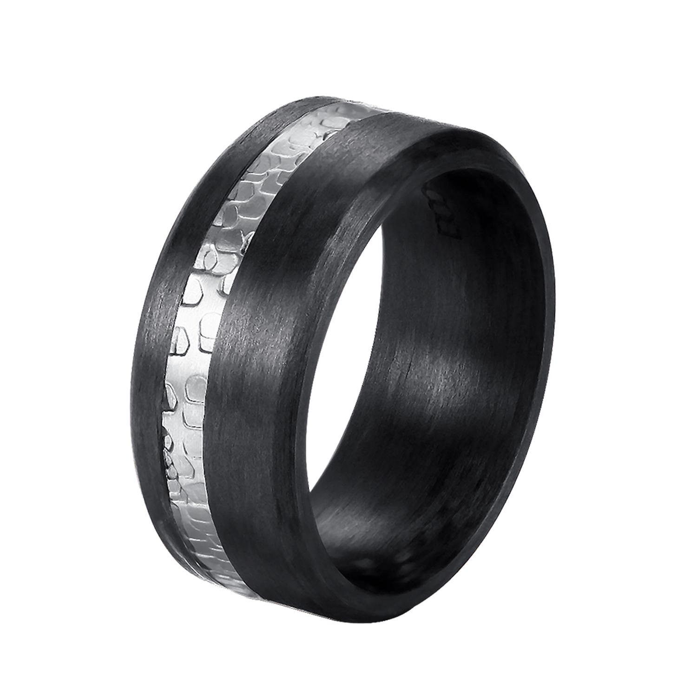 DOOSTI Carbon Ring  Partnerring Carbon mit Edelstahl  DOOSTI