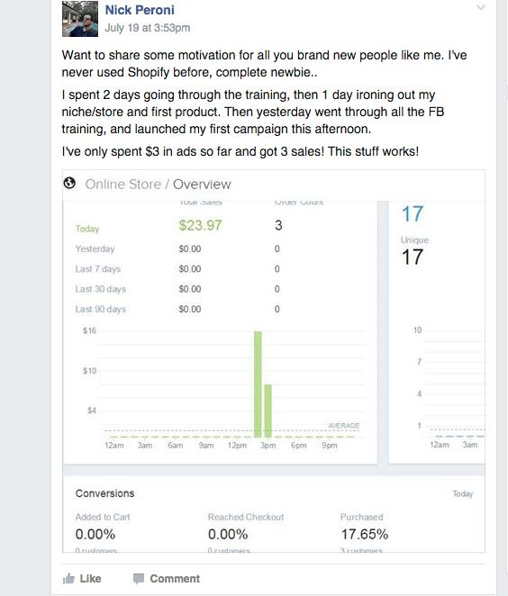 Complete Newbie $3 Ad Spend 3 sales