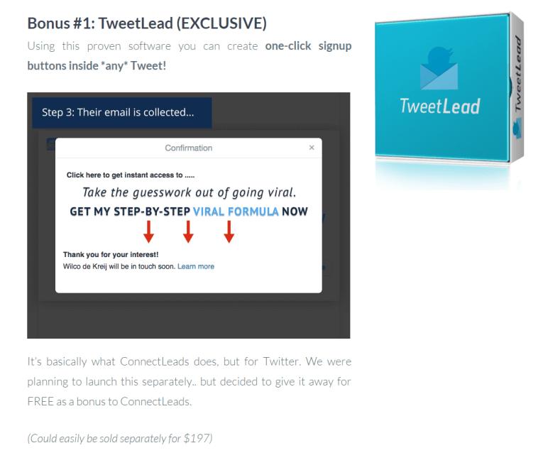 Tweet Lead bonus
