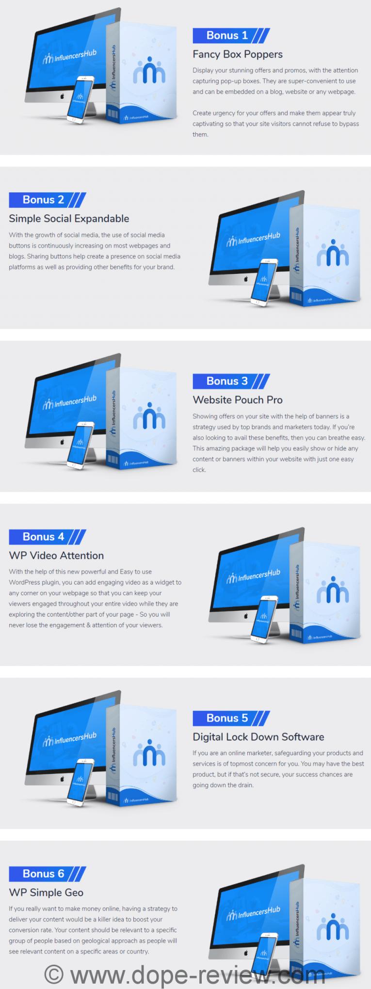 Influencer Hub Bonus