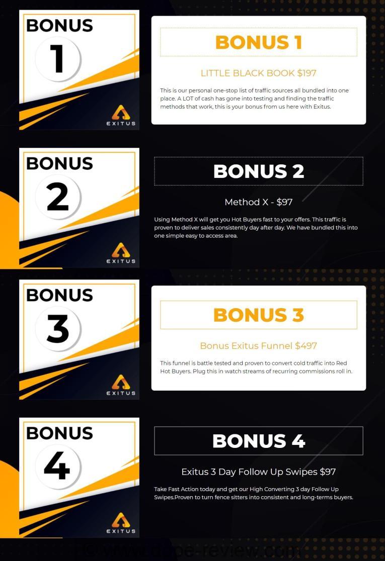 Exitus bonuses