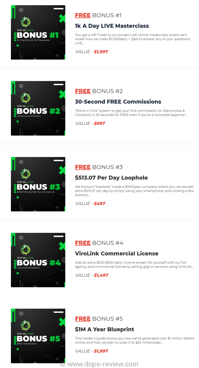 ViroLink Bonus