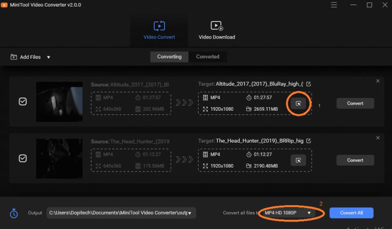 convert videos Dopitech