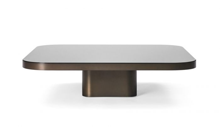 classicon bow coffee table brass burnished