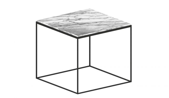 zeus slim marble side table