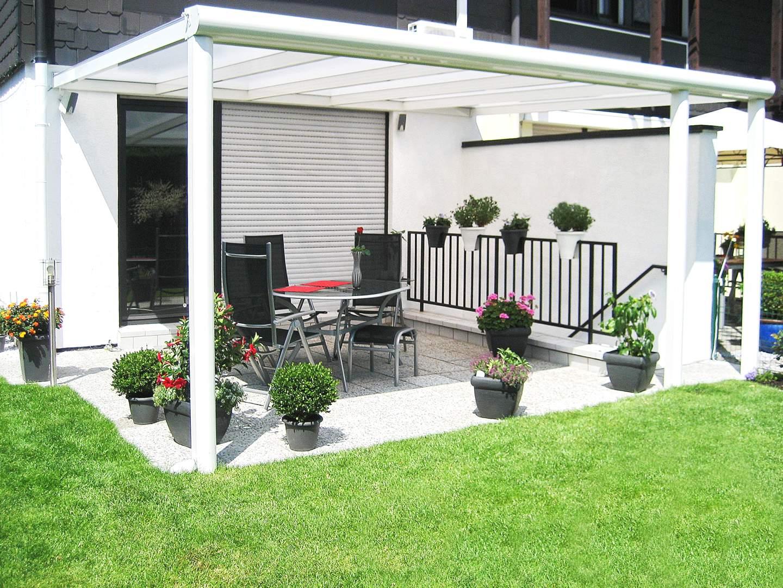 top alu 4 06m x 4 5m terrassenuberdachung mit aluminiumunterbau