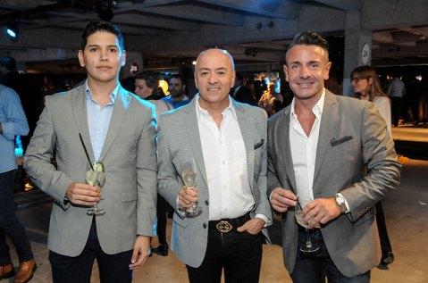 Enzo Gentile, Alejandro Aristizabal y Gonzalo Alvarez