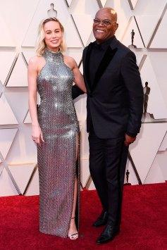 Brie Larson y Samuel L. Jackson