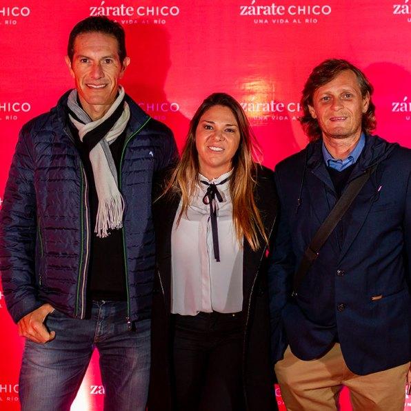 Diego Ibarra, Andrea Torchiana y Harry Enz