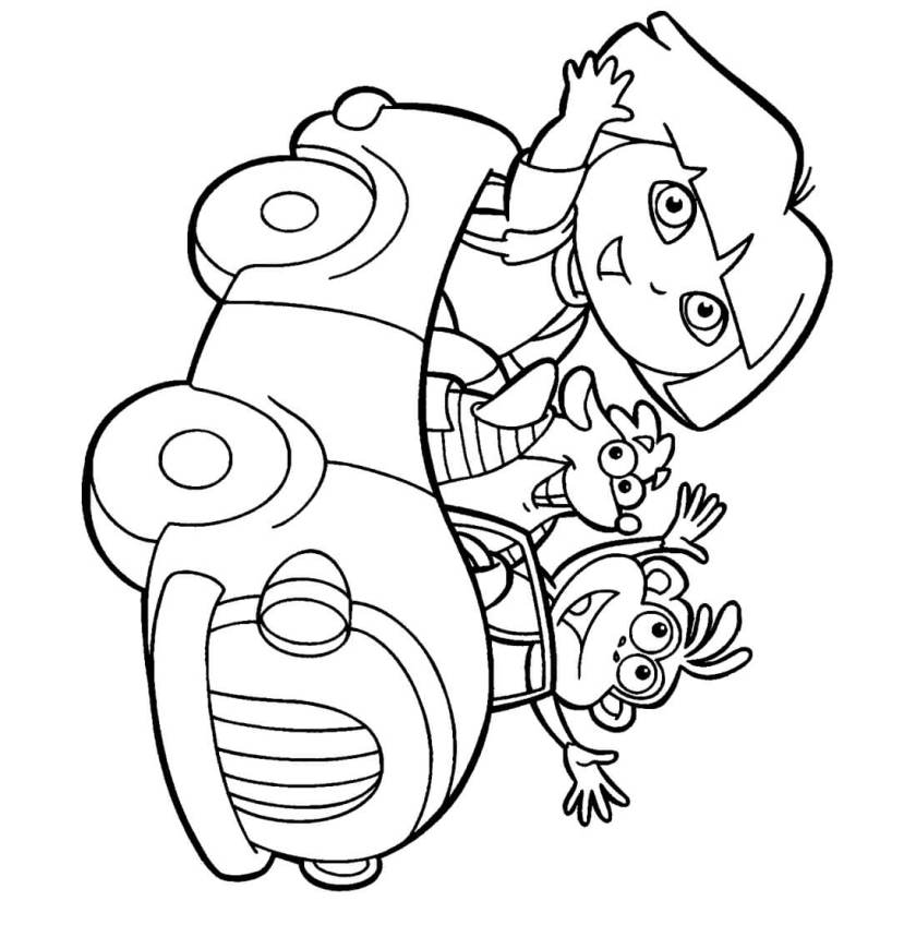 dora coloring  lots of dora coloring pages and printables!