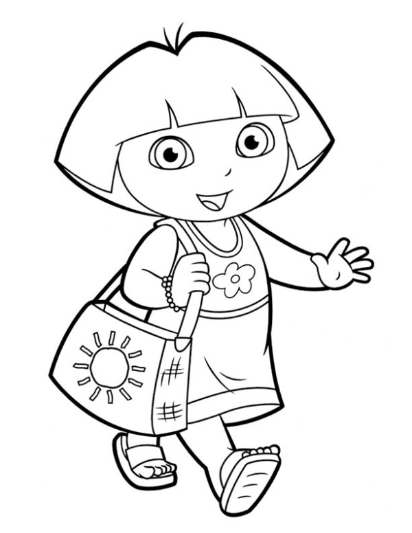 dora coloring pages printable # 9