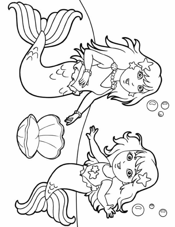 Dora The Explorer Mermaids Coloring Page