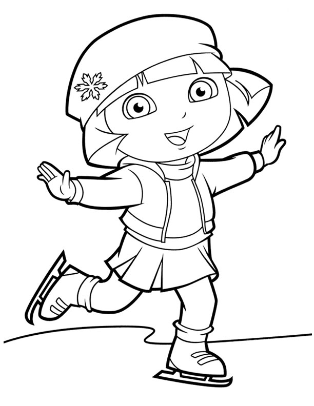 Adventure Dora And Boots Coloring Pages