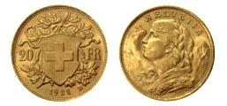 20 francs suisse, pièce en or
