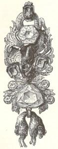 Le diamant bleu de France inclus au centre de la toison d'or