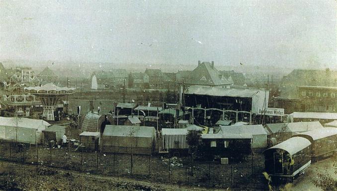Kirmes auf dem Rosellenplatz 1928 (Foto von Anni Hinz)