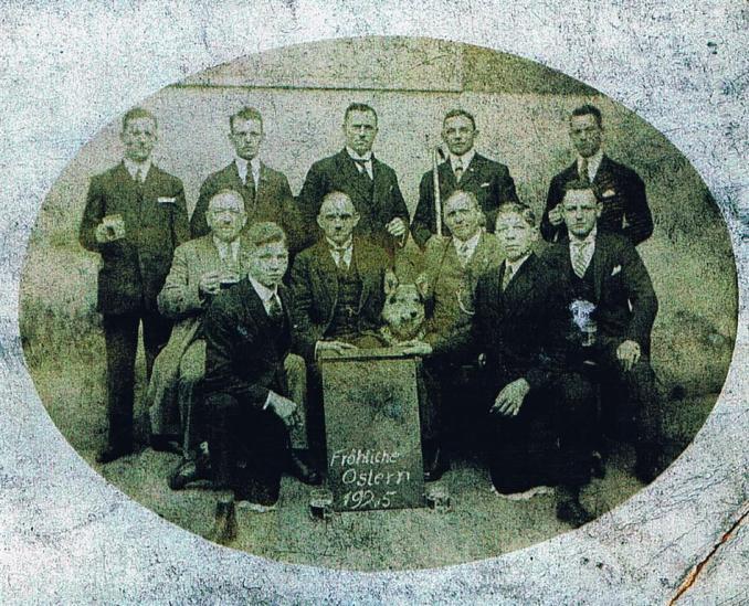 Ostern 1925, Mitte: Ignaz Schaaf (Foto von Anni Hinz)