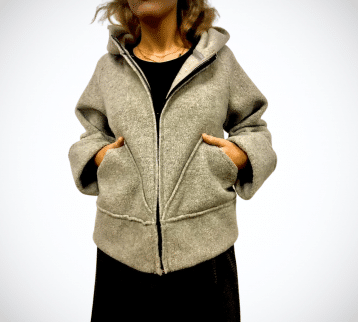 Genoveffa giacca pile grigia