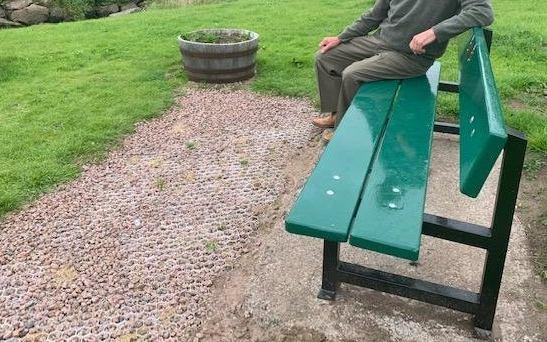 Press Release – Cruden Bay memorial seat is renovated