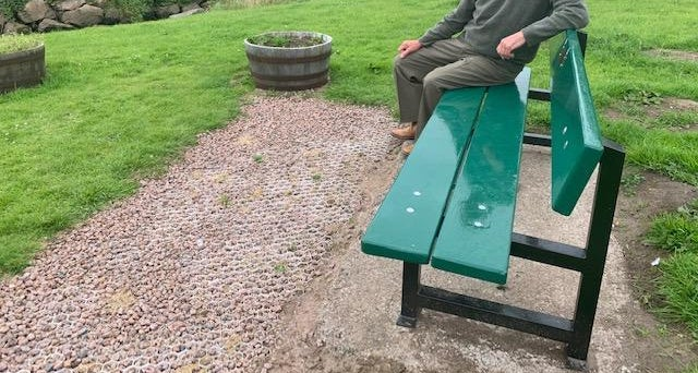 Cruden Bay memorial seat is renovated