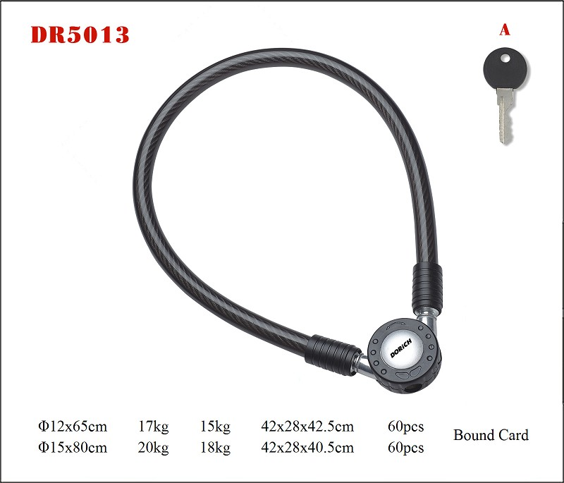 DR5013 Combination Cable lock,Bicycle & Motorcycle Locks
